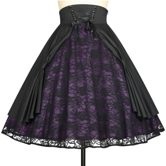 Plus Size Gothic Steampunk Clothing Lace Skirt NWT